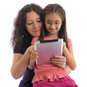 iStock mom and daughter reading