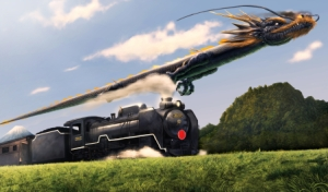 dragon and train