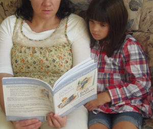 mom daughter reading GPBP