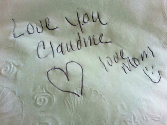 love you napkin